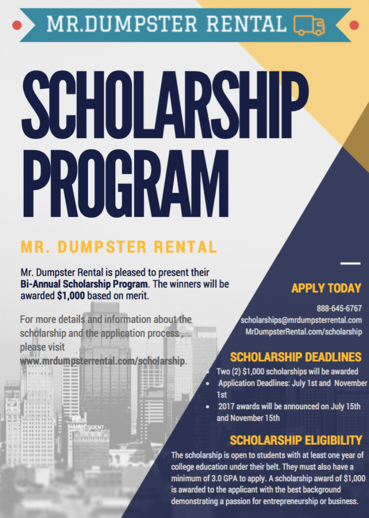 mrdumpsterrental-scholarship-program